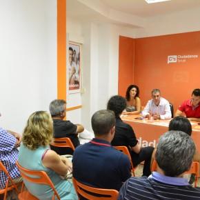 El delegado territorial de Ciudadanos Aragón se reúne con la agrupación de Teruel
