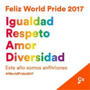 Ciudadanos Aragón estará presente en las manifestaciones en el Día del Orgullo