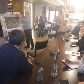 """Ciudadanos se reúne con los afectados por la variante de Jaca """"para alcanzar una solución común"""" y llevar el asunto al Congreso de los Diputados"""