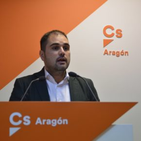 """Rodrigo Gómez: """"Las partidas que Ciudadanos ha impulsado en los PGE van a combatir la despoblación y la baja natalidad en Aragón"""""""
