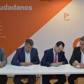 Ciudadanos integra a Compromiso con Aragón con el objetivo de ampliar su presencia en el mundo rural y gobernar en 2019