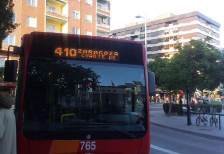 Cs Cuarte de Huerva pide estudiar un aumento de horarios del autobús ...