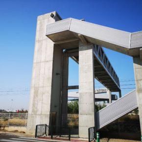 """Ciudadanos Utebo exige el arreglo """"inmediato y definitivo"""" del ascensor de la pasarela del Camino de la Estación"""