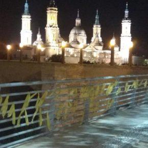 Ciudadanos denuncia la presencia de lazos amarillos en Zaragoza y pide al Ayuntamiento que defienda la neutralidad del espacio público