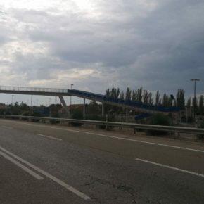 """Ciudadanos pide al Ejecutivo central inversiones en la pasarela de la N-232 en Utebo """"para garantizar su seguridad y su accesibilidad"""""""