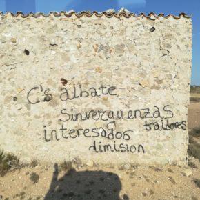 Ciudadanos denuncia la aparición de pintadas contra la formación en Albalate del Arzobispo