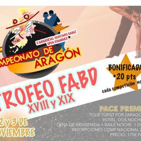 Noventa parejas competirán este fin de semana en María en el Trofeo de la Federación Aragonesa de Baile Deportivo