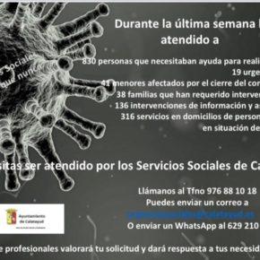 El Centro de Servicios Sociales de Calatayud ha realizado 1.380 intervenciones en la última semana