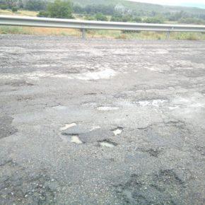 Villanueva de Sijena reclama la urgente intervención en la carretera A-131 por su grave deterioro