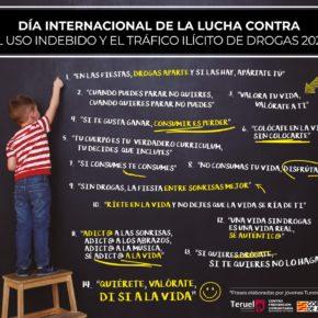 El Ayuntamiento de Teruel se suma al Día Internacional contra la Droga