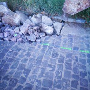 Cs lamenta que el Ayuntamiento de Épila destruya el adoquinado del paseo de la Azucarera