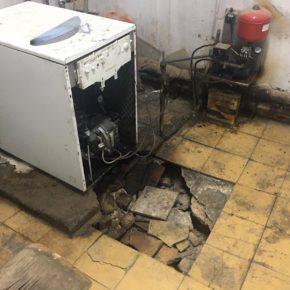 El Ayuntamiento de Paniza pide ayuda a Educación tras hundirse el suelo del cuarto de calderas del colegio