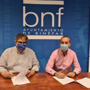 Ciudadanos firma el acuerdo para incorporarse al equipo de gobierno del Ayuntamiento de Binéfar