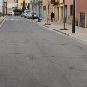 Obras de reasfaltado de un tramo de la calle Huesca