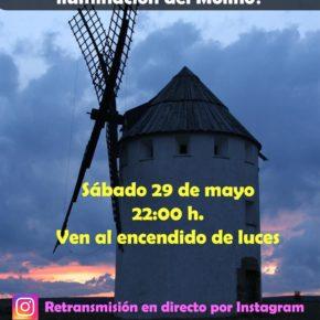 Malanquilla estrenará este sábado la nueva iluminación exterior de su Molino