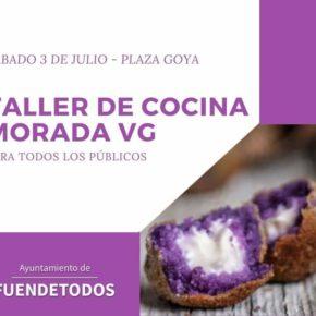 Fuendetodos celebrará este sábado un taller de cocina morada contra la violencia de género