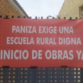 Los vecinos de Paniza se concentrarán mañana para reclamar a Educación las obras comprometidas en el colegio de la localidad